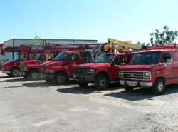 Galesburg Sign and Lighting Truck Fleet